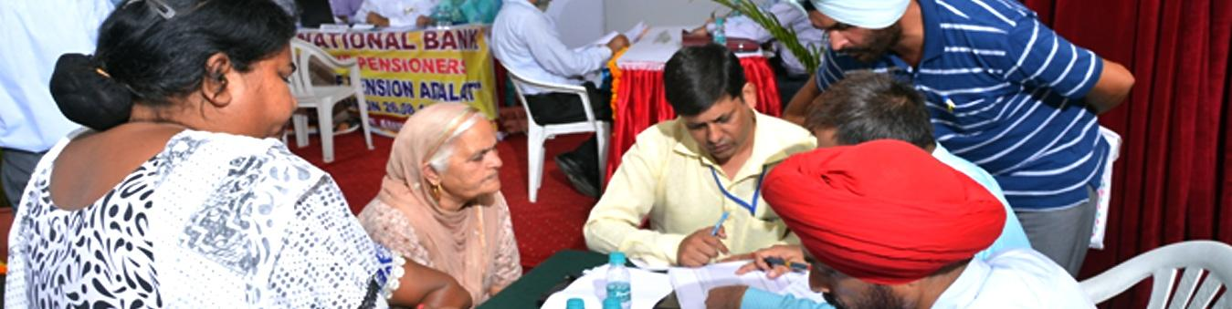 Defence Pension Adalat in Progress - Checking and verifying
