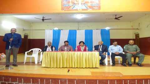 Secy ESW and other senior officials at the Interaction with local Ex Servicemen at Madikere, Karnataka on 22.1.2020.