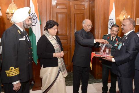 Shri Ram Nath Kovind, Hon'ble President of India contributing on the occasion of the AFFD, in New Delhi on 07.12.2018.