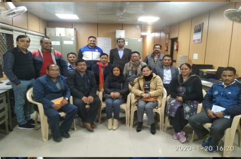 Participants of the training programme (20-24 Jan 2020) for staff of RSBs/ZSBs of NE States at KSB Sectt, New Delhi.