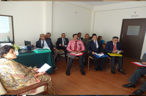 Secy ESW reviewing the progress during the 4th South Zone Meeting of RSBs at Madikere, Karnataka during 22-23 Jan 2020.