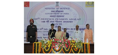 Smt Draupadi Murmu, Hon'ble Governor of Jharkhand during Defence Pension Adalat (DPA) at Ranchi on 25.07.2019.